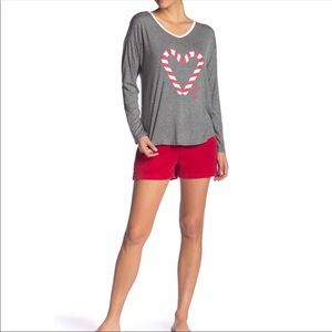 JUICY COUTURE Pajama Top and Velour Shorts Set